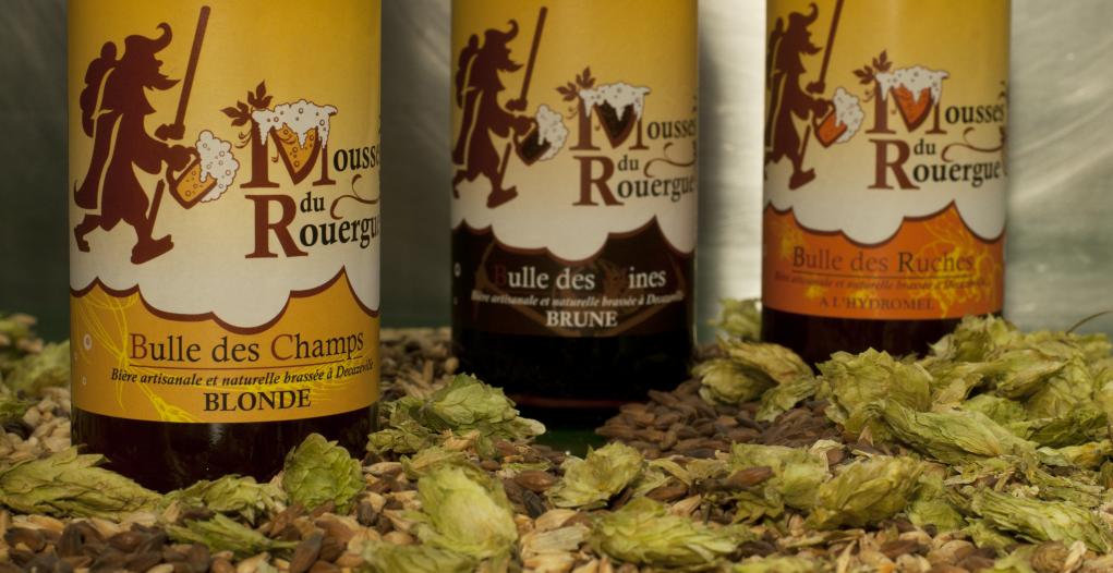Mousses du Rouergue, bière de l'Aveyron