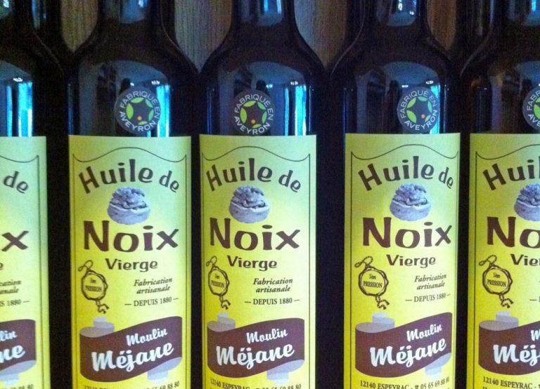 Huile de noix du Moulin Méjane en Aveyron