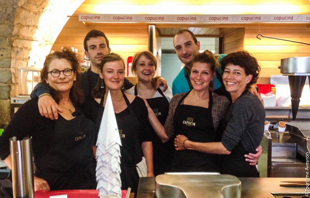 L'équipe de l'espace gourmand © Tourisme Aveyron