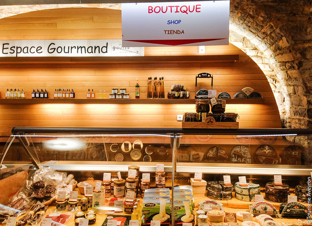 Boutique de l'espace gourmand © Tourisme Aveyron