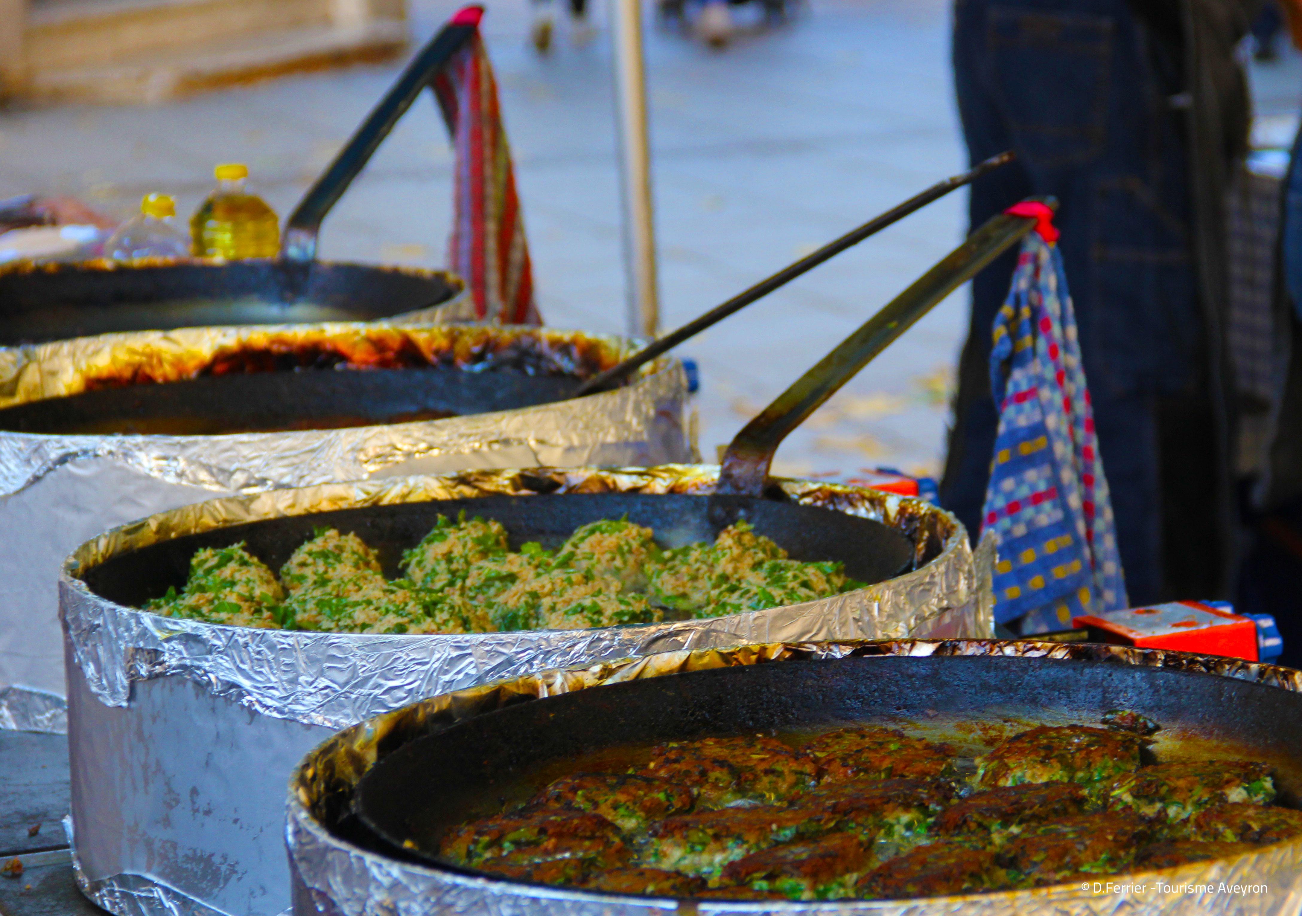 Farcous du marché, Rodez, Aveyron © D.Ferrier - Tourisme Aveyron