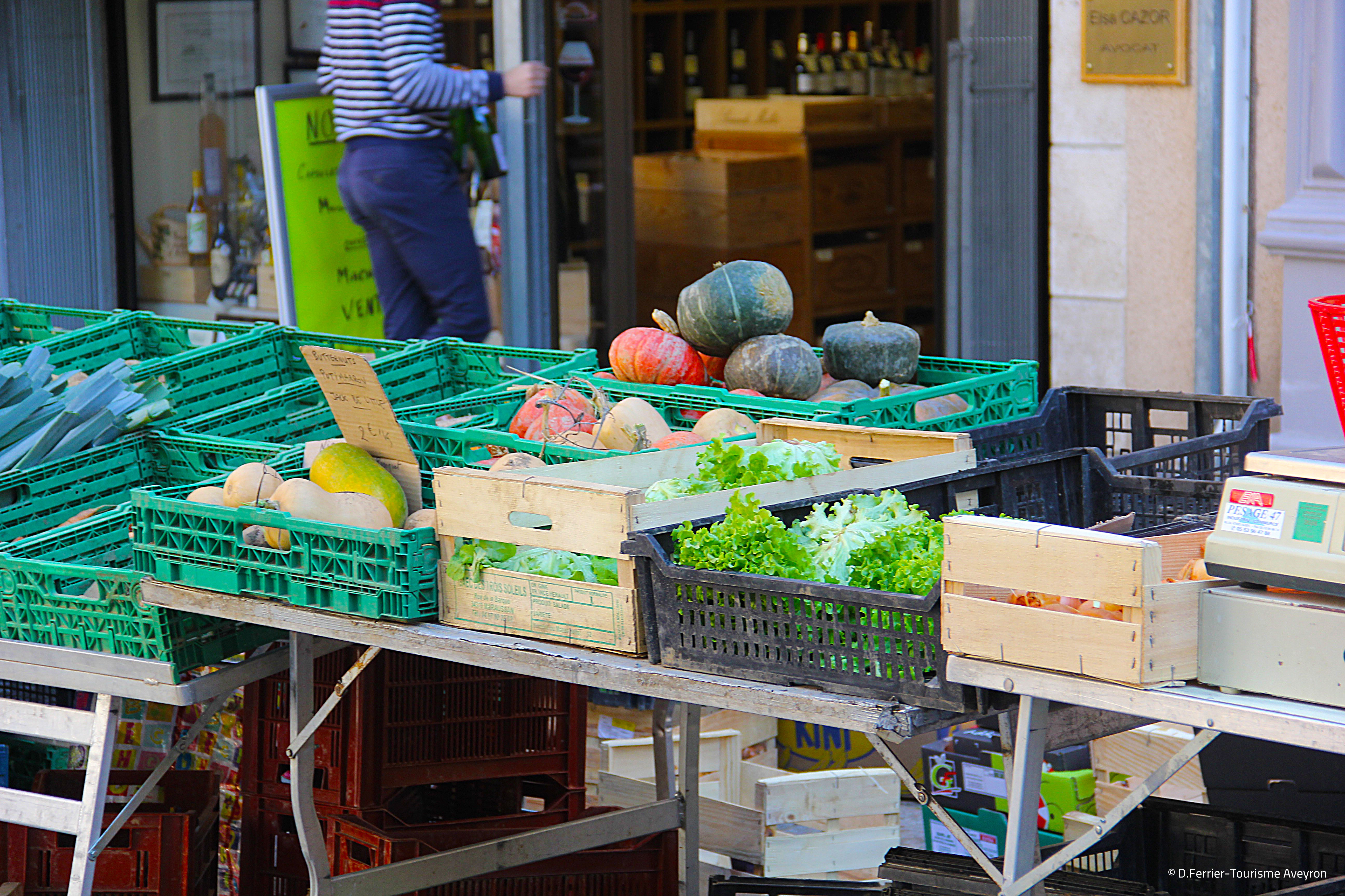 Légumes de saison, marché de Rodez, Aveyron © D.Ferrier - Tourisme Aveyron