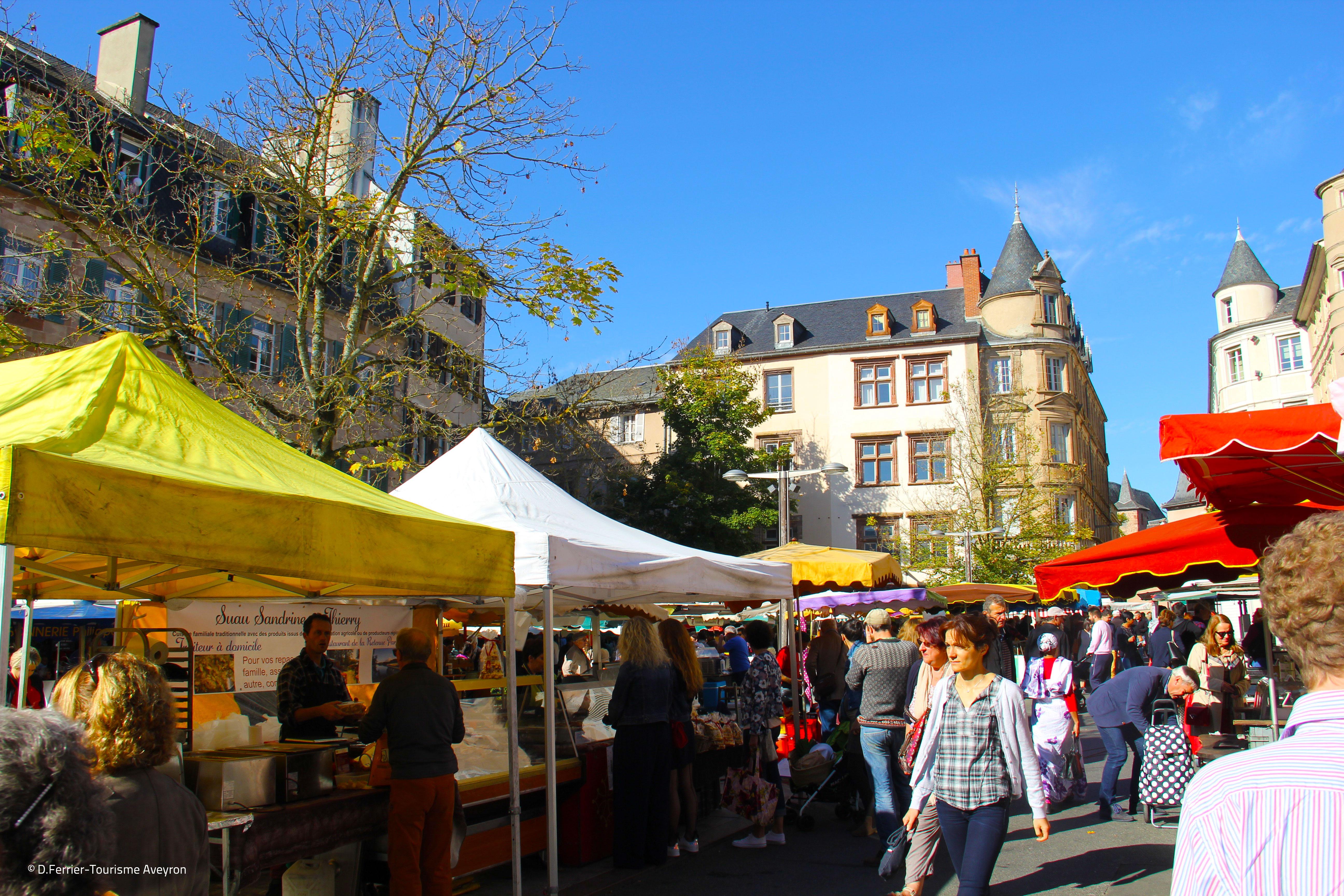 Etals, marché de Rodez, Aveyron © D.Ferrier - Tourisme Aveyron