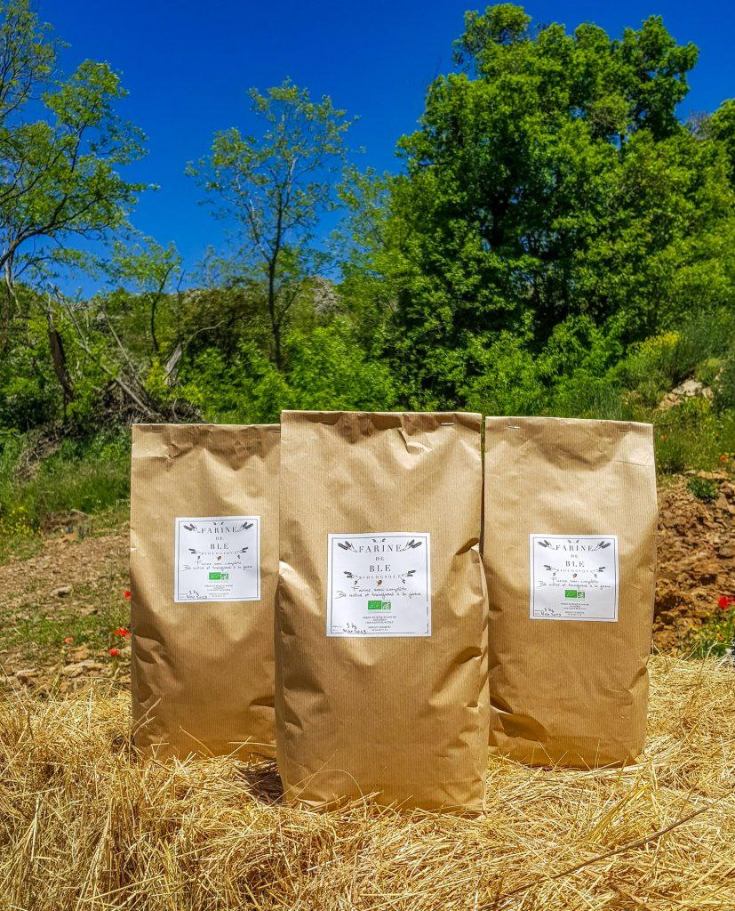 Farine bio de la ferme de Roquecanude en Aveyron