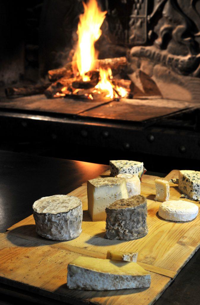 Plateau de fromages du restaurant La Mangeoire à Millau, Aveyron